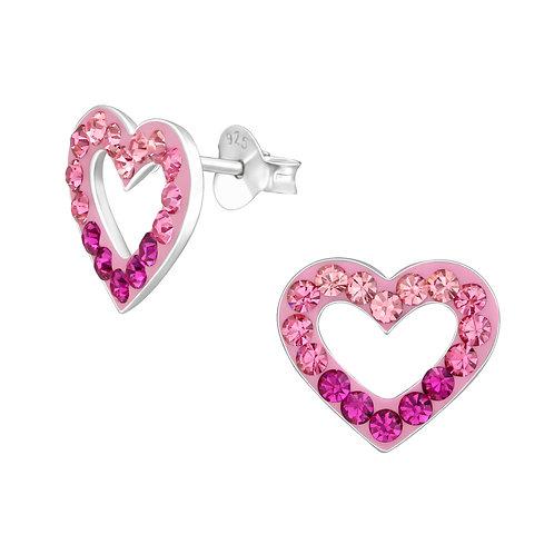 Pink Hollow Earrings