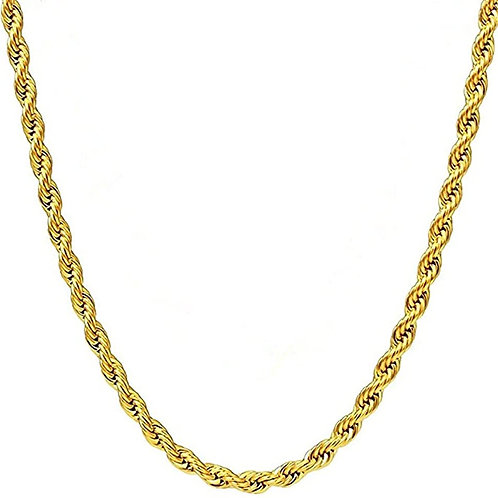 Steel Rope Chain - Gold