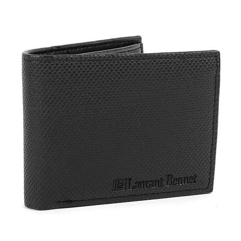 LB TX Leather Bi-Fold Wallet - Black