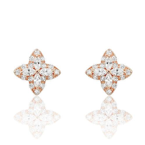 Twinkling Star Earrings - Rose Gold