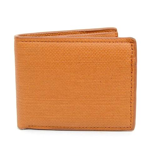 LB Plain Bi-Fold Men's Wallet - Tan