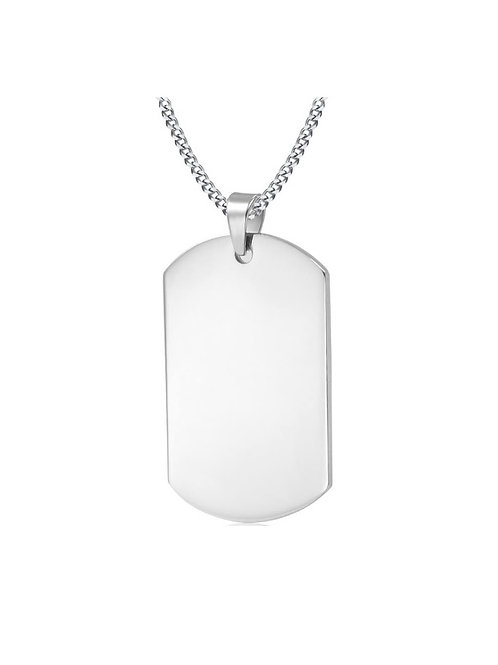 Steel Dog Tag Chain - Silver