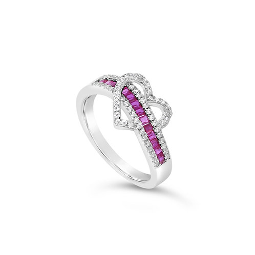Exotic Heart Ring - Ruby