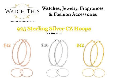 925 Silver CZ Hoop Earrings Trio 2.jpg