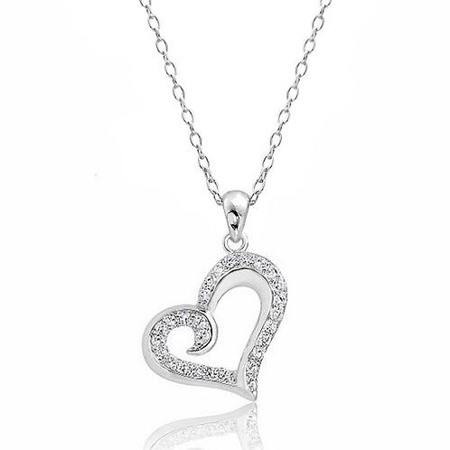 Caligraph Heart Necklace