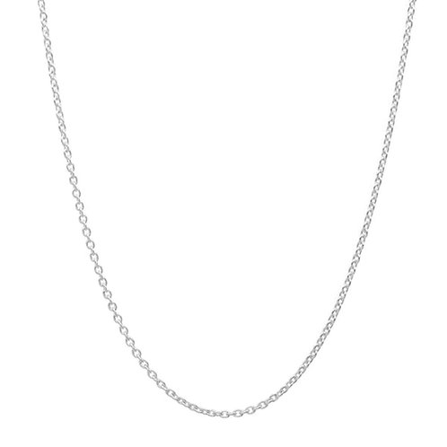 Silver Cable Necklace 1 mm