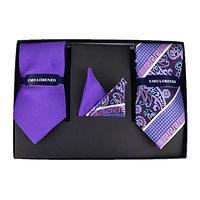 Formal Necktie Set - Purple