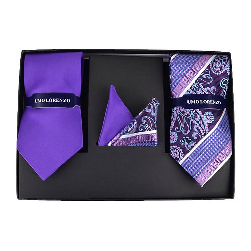 Formal Necktie Set - Purple