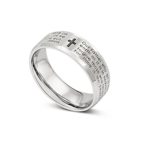 Lord's Prayer Ring - Silver