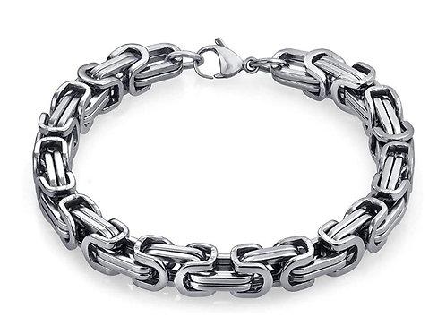 Steel Byzantine Bracelet - Silver