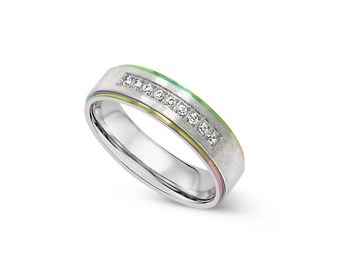 Inline CZ Ring - Rainbow