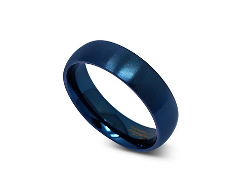 Blue Beveled Ring