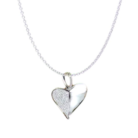 Heart Leaf Necklace - Silver