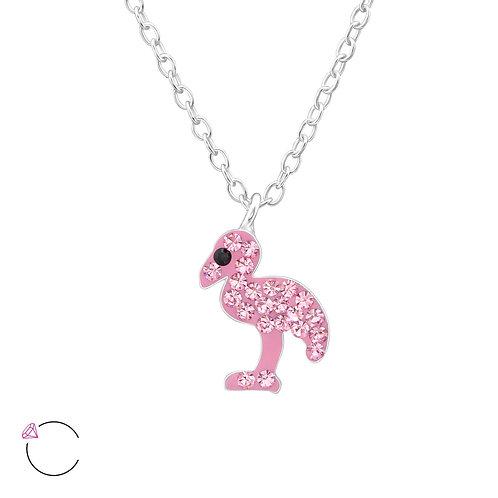 Bahamas Pink Flamingo Necklace