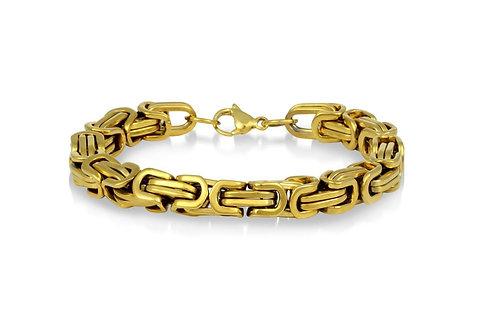 Steel Byzantine Bracelet - Gold