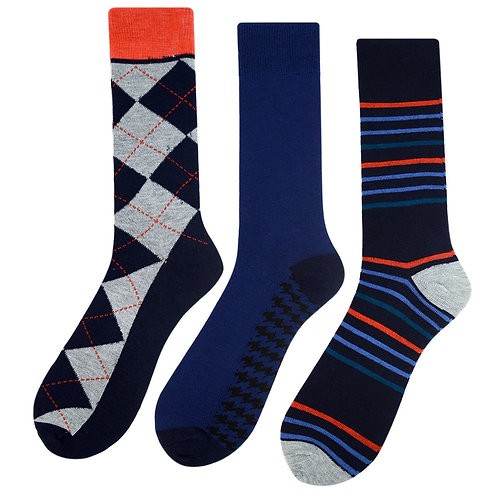 Men's Assorted Casual Fancy Socks - 3 Pairs