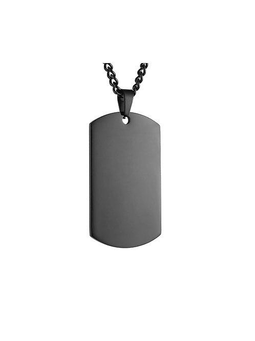 Steel Dog Tag Chain - Black