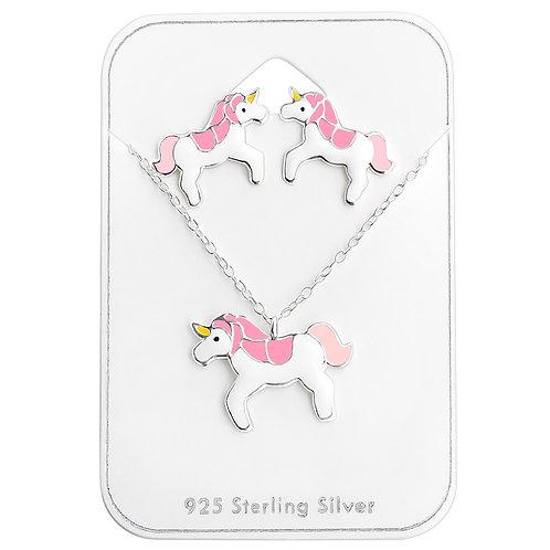 Unicorn Necklace Set - Pink