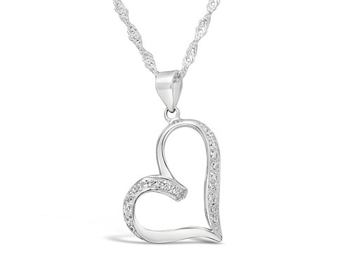 Cute Heart Silver Necklace