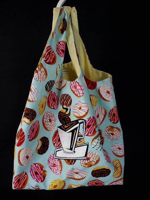 Coffee 'n Donuts Reusable Shopping Bag