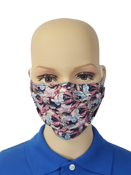 Purple Butterflies Cloth Face Covering