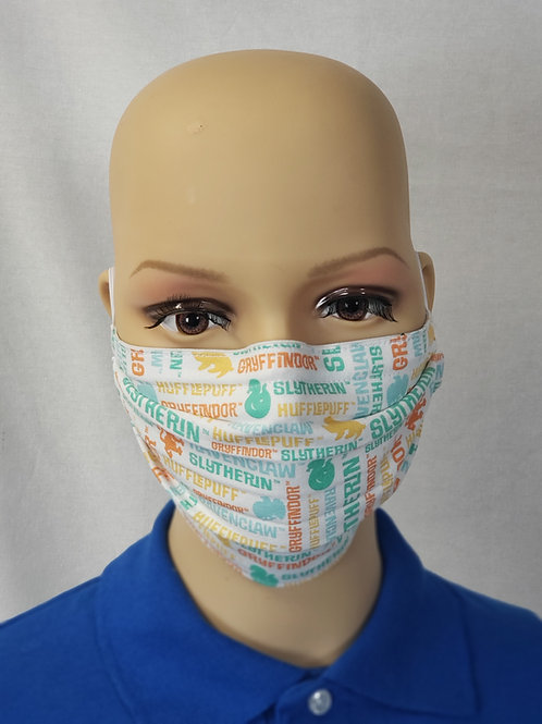 Cloth Face Covering made from Hogwarts Houses fabric