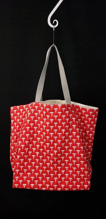 Caduceus Reusable Gusseted Market Bag