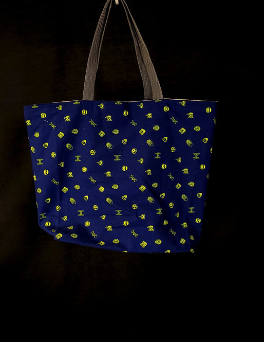 Reusable Gusseted Market Bag Made With Star Wars Fabric