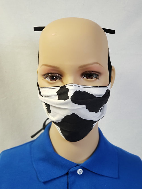 Cow Print Cloth Face Covering