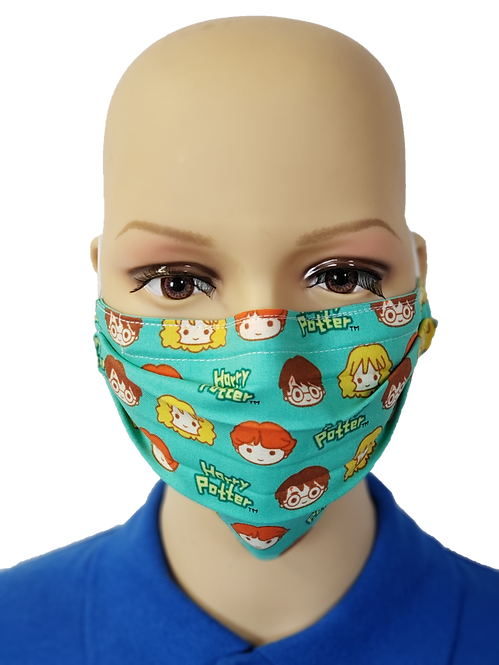 Cloth Face Covering made from Harry Potter Trio fabric