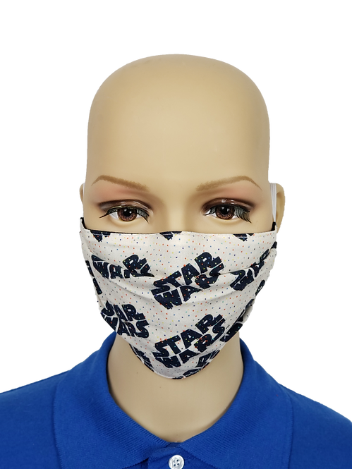 Cloth Face Covering made from Polk Dot Star Wars Fabric