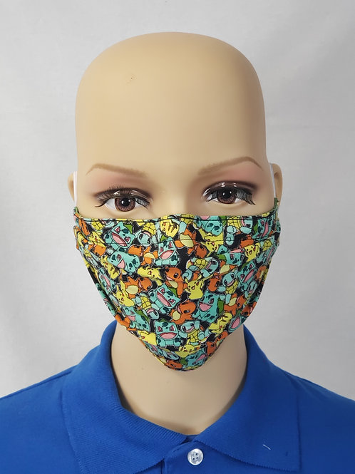 Cloth Face Covering made from Starter Pokemon Fabric