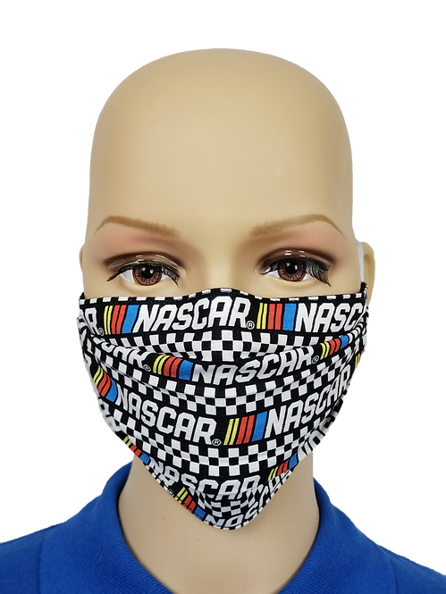 Cloth Face Covering made from NASCAR fabric