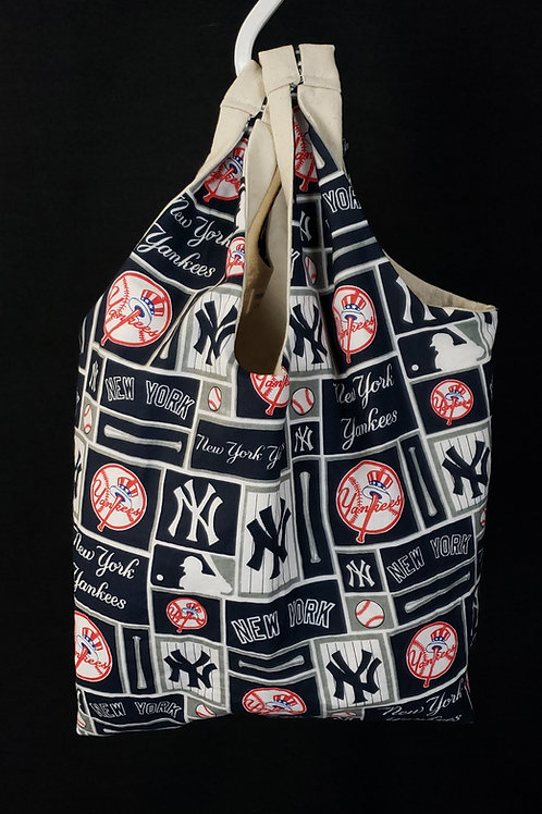 Reusable Shopping Bag Made With New York Yankees Fabric