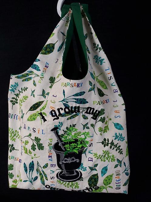 I Grow My Own Herbs Reusable Shopping Bag