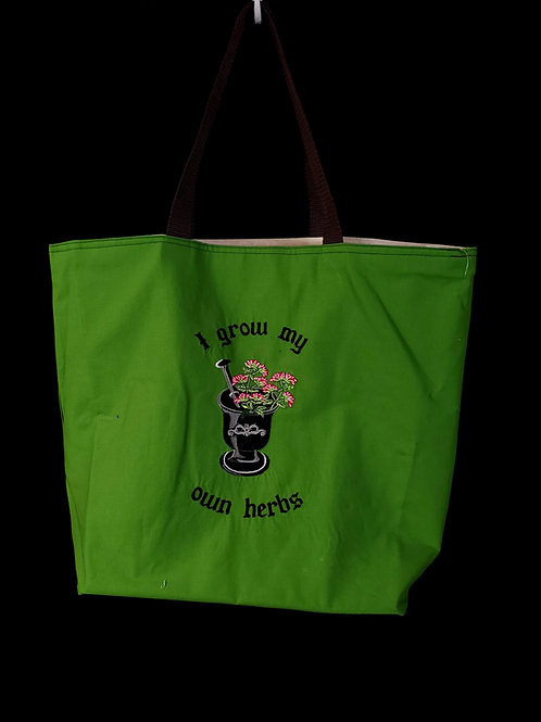 Herbs Reusable Gusseted Market Bag