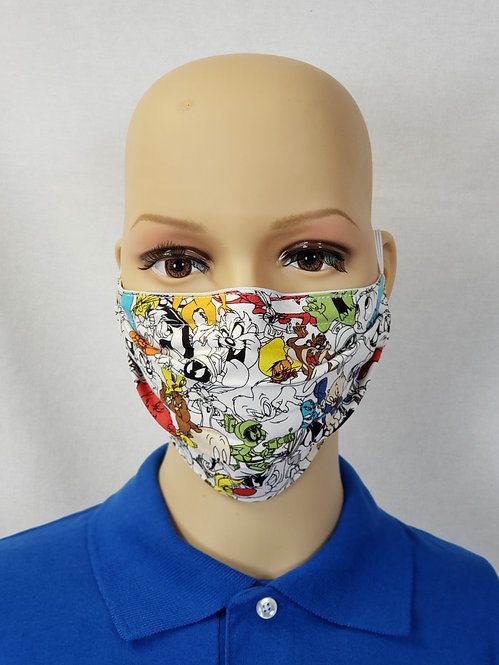 Cloth Face Covering made from Looney Tuness fabric