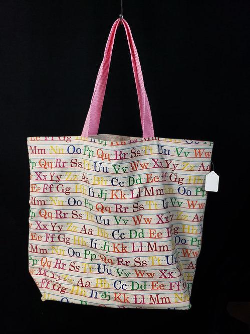Alphabet Reusable Gusseted Market Bag