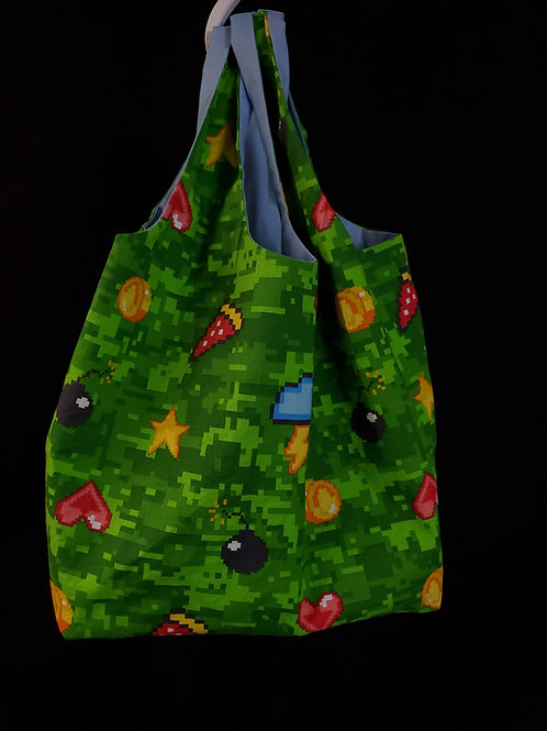 Pixel Art Reusable Shopping Bag