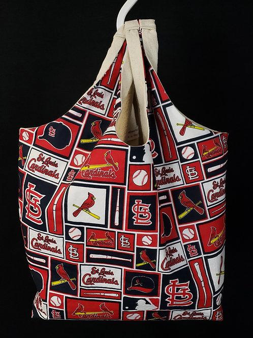 Reusable Shopping Bag Made With Cardinals Fabric
