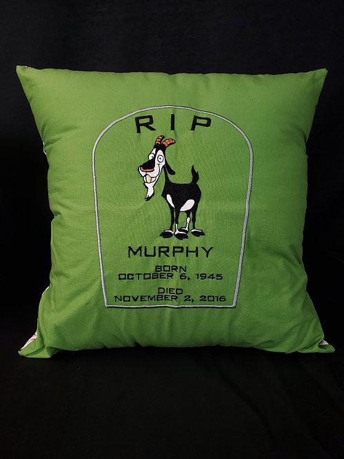R.I.P. Murphy Pillow