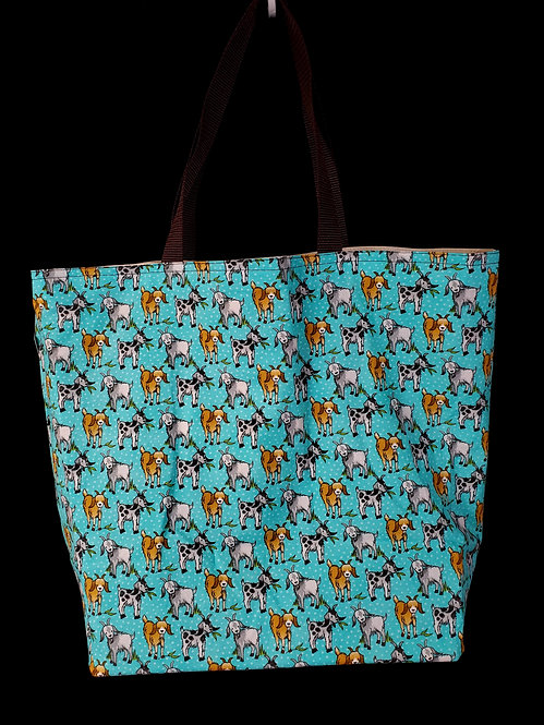 Goats Reusable Gusseted Market Bag