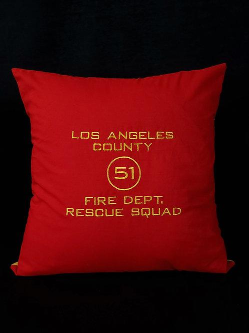 LA County Squad 51 Pillow