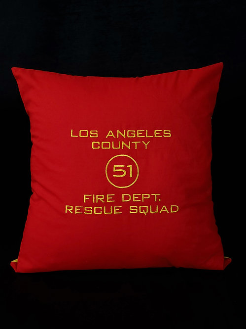 LA County Squad 51 Pillow