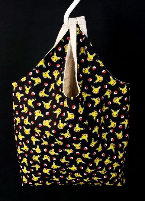 Reusable Shopping Bag Made With Pikachu Fabric