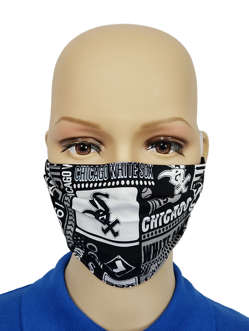 Cloth Face Covering made from Chicago White Sox fabric
