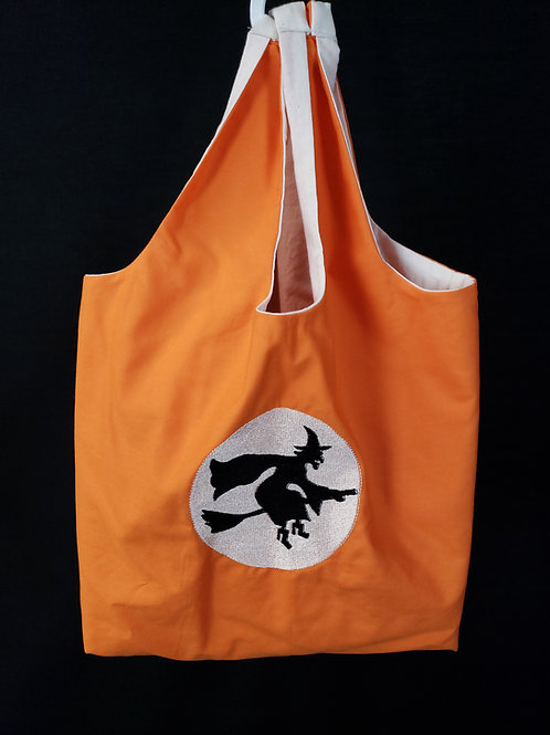 Witch and the Moon Reusable Shopping Bag