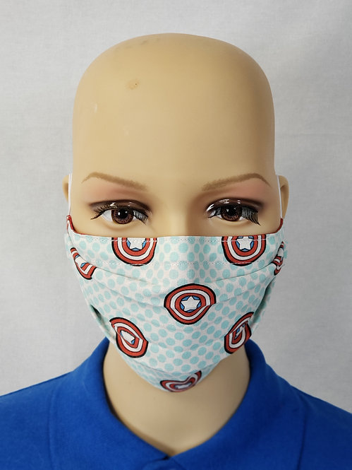 Cloth Face Covering made from Captain America fabric