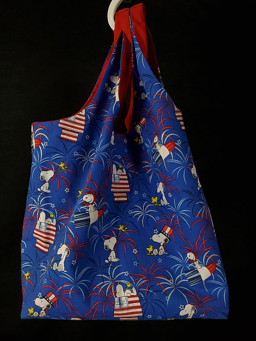 Reusable Shopping Bag Made from American Snoopy Fabric