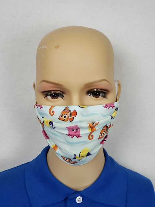 Cloth Face Covering made from Disney's Pixar Finding Nemo fabric